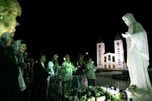 Молитва в Меджугорье