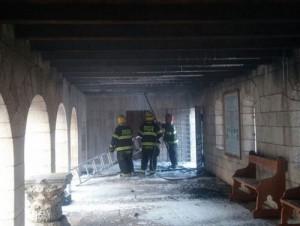 Церковь Умножения хлебов  и рыб в Табхе после пожара 18 июня