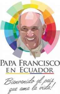 Логотип визита Франциска в Эквадор, утвержденный правительством Рафаэля Корреа