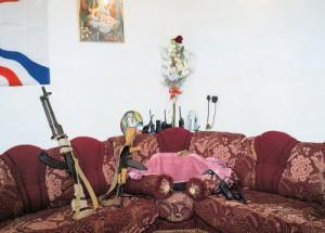 Штаб-квартира ассирийского христианского ополчения «Двех Навша» возле линии фронта с ИГИЛ в Богофе (Ирак)