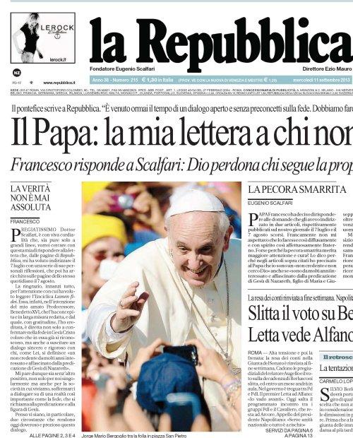 Ватикан решил наказать газету «La Repubblica» за преждевременную публикацию энциклики