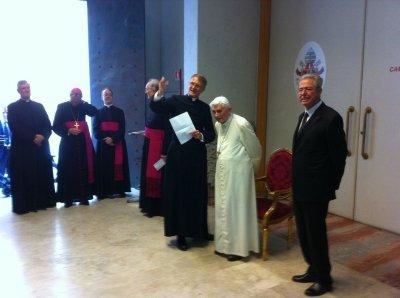 Бенедикт XVI с участниками Schulerkreis