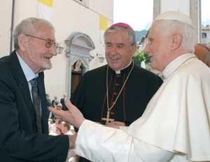 Бенедикт XVI и Эдоардо Лучиани