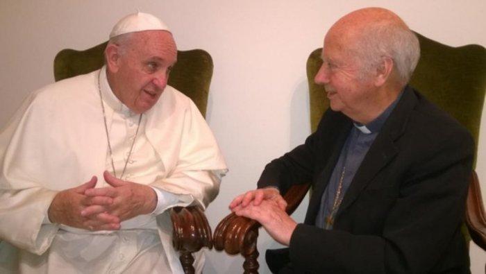 Встреча Франциска с монс. Гайо