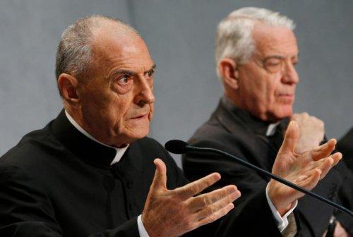 Председатель комиссии монс. Пио Вито Пинто на презентации двух motu proprio Франциска