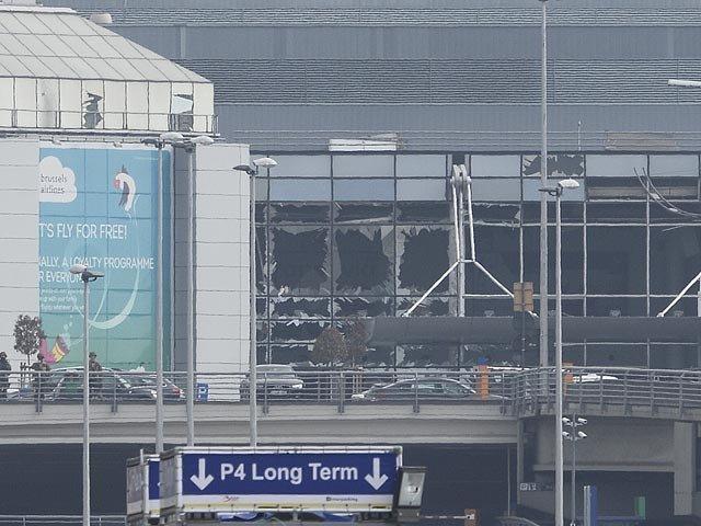 Брюссельский аэропорт Завентем, разрушенный взрывом