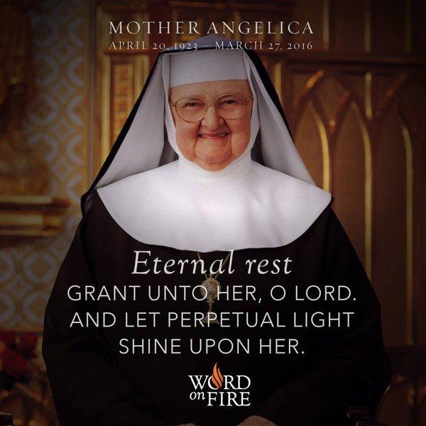 Основательница EWTN мать Анжелика скончалась в Пасхальное воскресенье