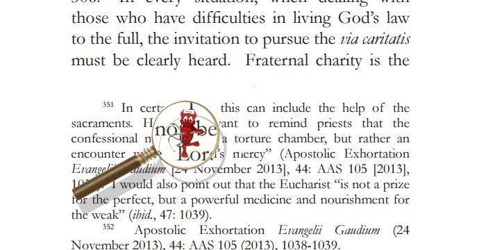 Дьявол кроется в сносках: новые аспекты учения Франциска
