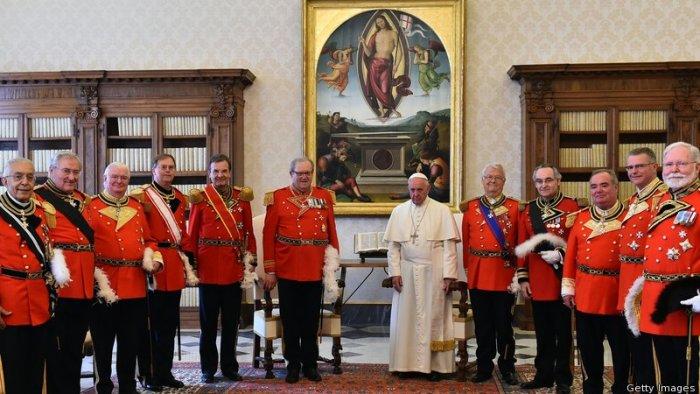 Франциск и рыцари Мальтийского Ордена
