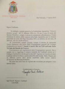 Письмо кардинала Содано