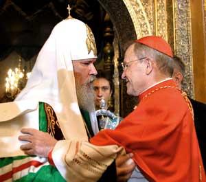 Кардинал Вальтер Каспер и Патриарх Алексий II