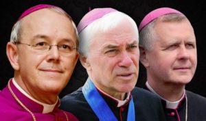 Епископ Атаназиус Шнайдер, архиепископ Ян Павел Ленга, архиепископ Томаш Пета